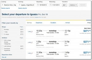 Booking Flights Buenos-Aires Iguazu Expedia 16. 07. 2013 002