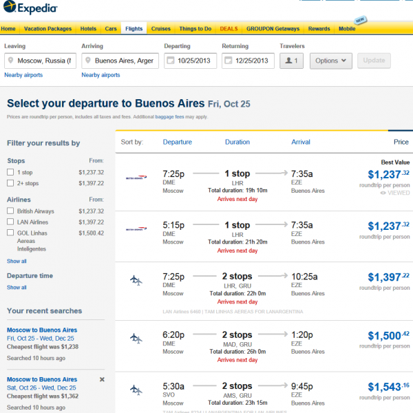 Booking Flights Moscow Buenos-Aires Expedia 04. 07. 2013 006