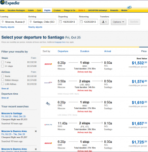 Booking Flights Moscow Santiago Expedia 04. 07. 2013 001