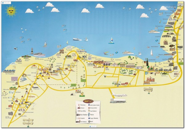 Map Visitor attractions in Egypt Hurgada 2