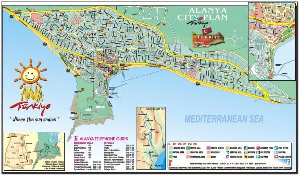 Alanya. Turkey Map 003