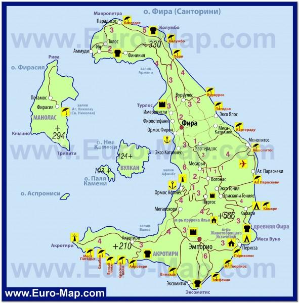Crete map 012b. Santorini