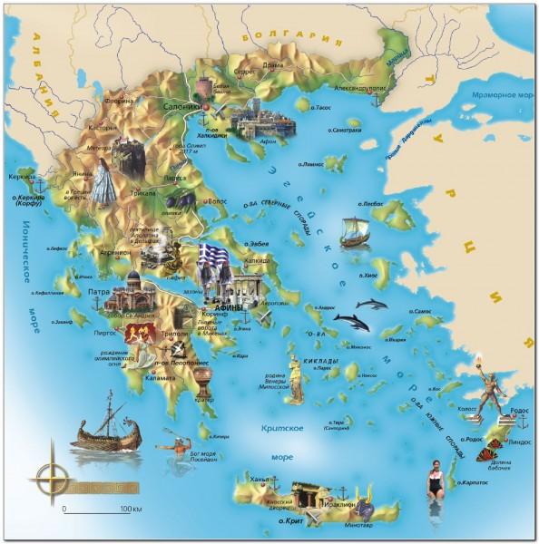 Crete map Greece