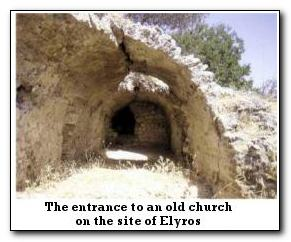 Elyros is located in southwest Crete, on Kefala Hill