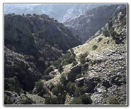 Kamares Cavern. The gorge of Vorizia (Voriziano)