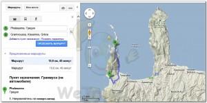 Route Crete Santorini 001