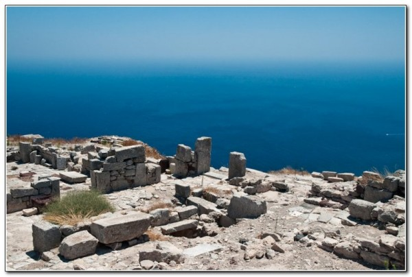 Temple of Pythian Apollo, Ancient Thera, Santorini, Greece