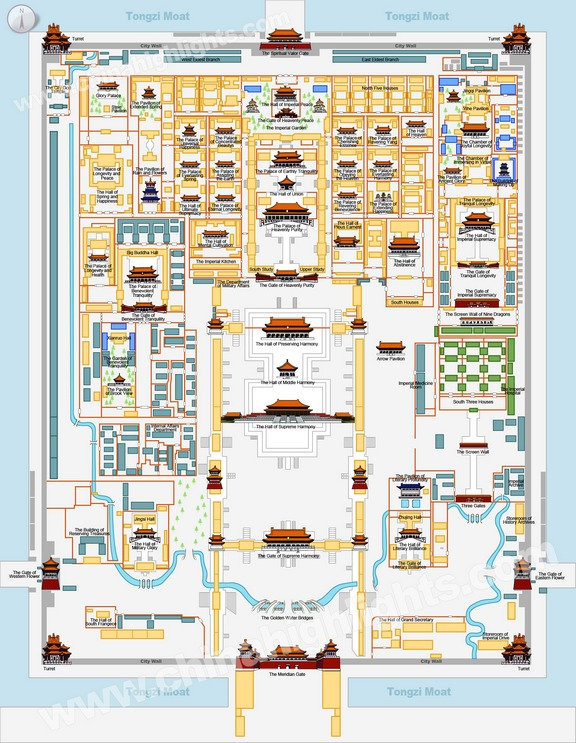 36. Gugong Beijing Forbidden City Map 5