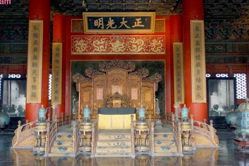 Imperial throne in the Palace Of Heavenly Purity