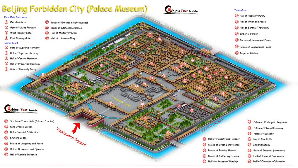 36. Gugong Beijing Forbidden City Map 1