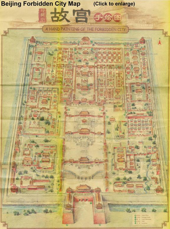 36. Gugong Beijing Forbidden City Map 2