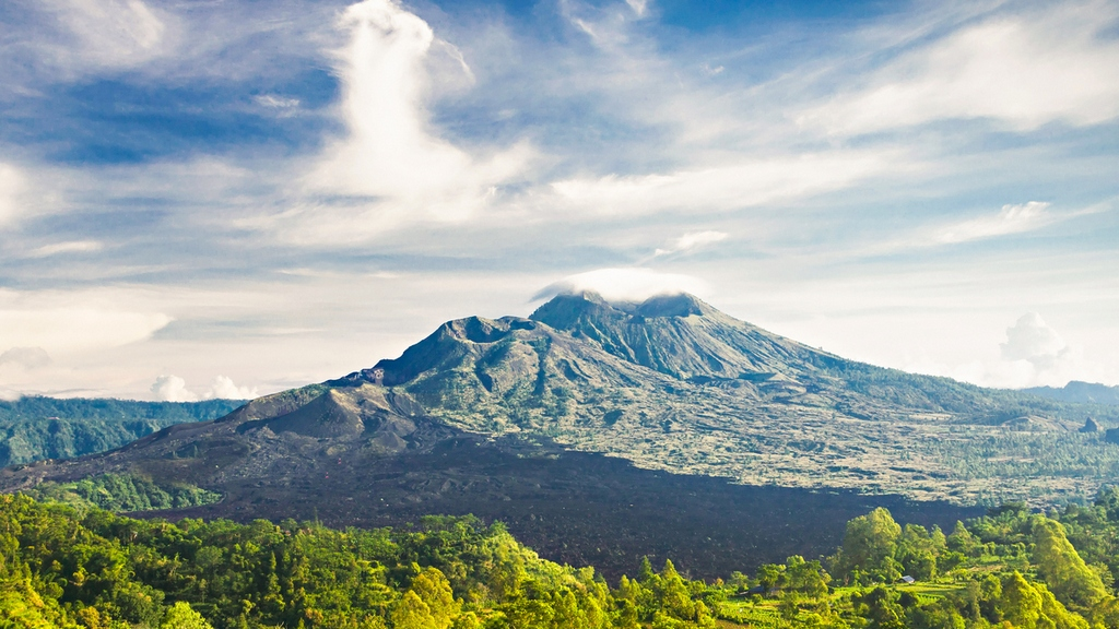 Mount Batur at morning, Bali