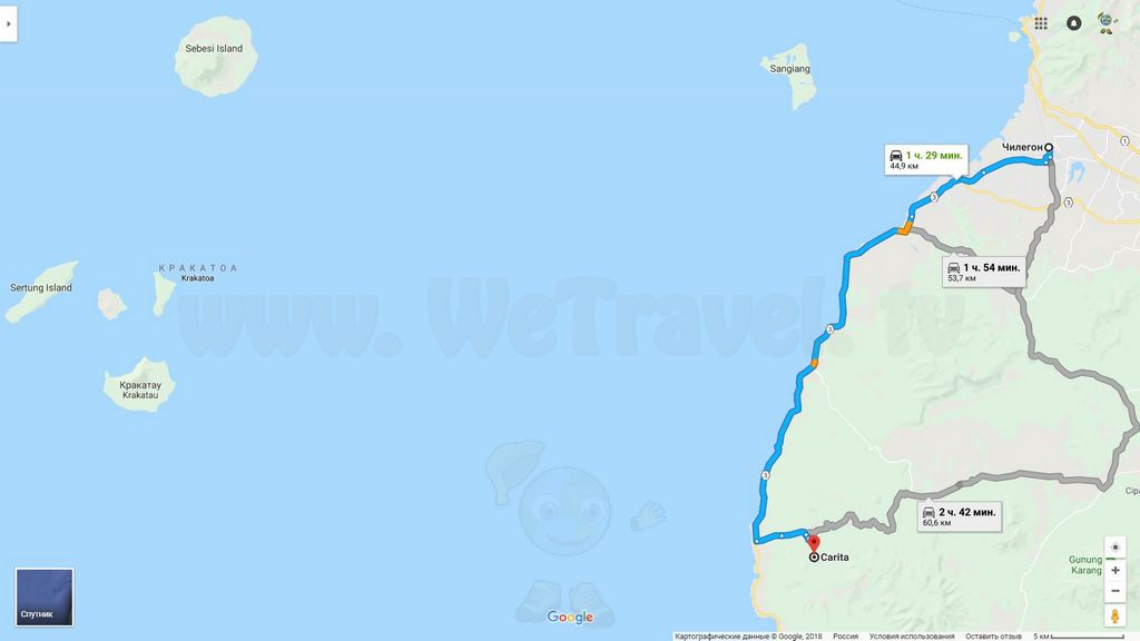 Krakatau Map 15 Traffic Cilegon - Carita small