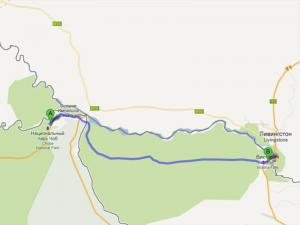 Map Botswana Zimbabwe