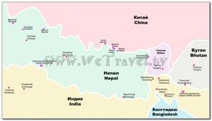 Map Nepal Himalaya