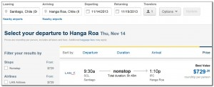 Booking Flights Santiago Isla de Pascua Expedia 04. 07. 2013 001