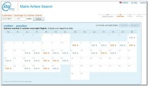 Booking Flights Santiago Isla de Pascua Matrix 16. 07. 2013 001