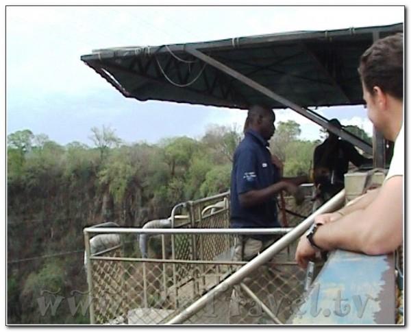 South Africa Zimbabwe Zambia Victoria Falls  Bungee jumping 001
