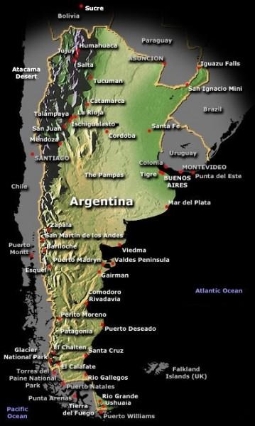 South America Map 007
