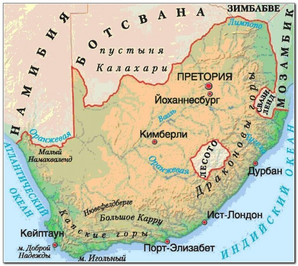 South Africa Map Lesotho 02