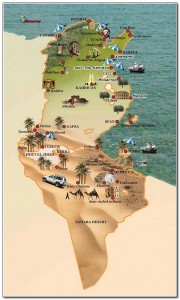 Tunisia map 001