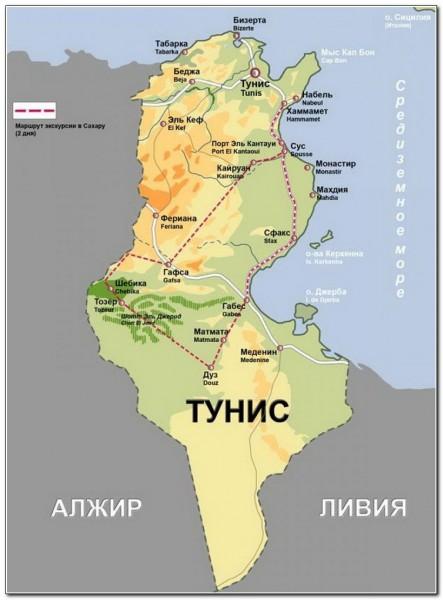Tunisia map 003