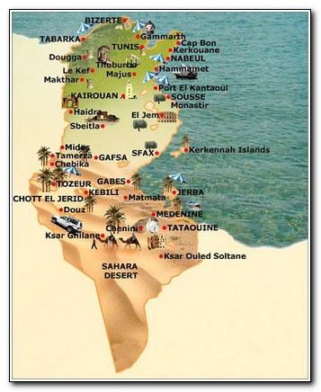 Tunisia map 004