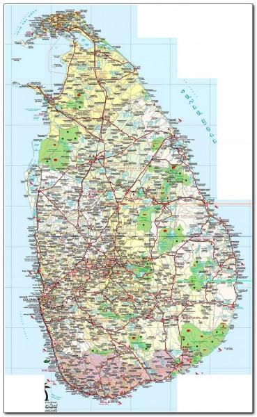 Sri Lanka Map 001