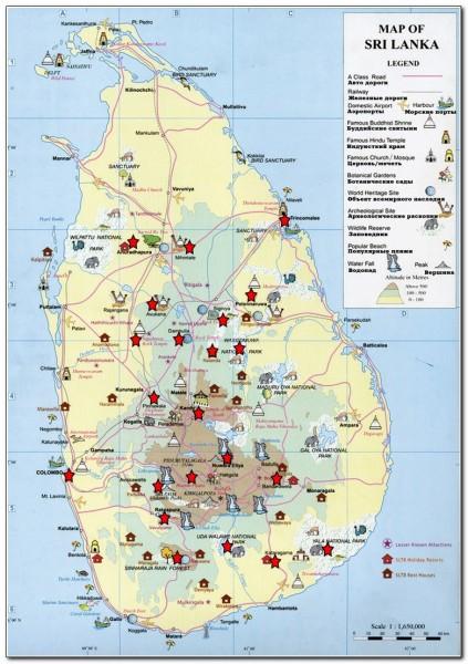 Sri Lanka Map 002