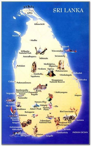 Sri Lanka Map 003