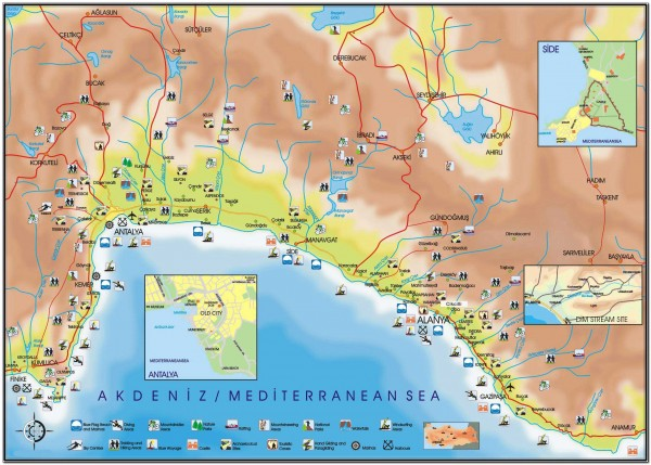 Alanya. Turkey Map 001