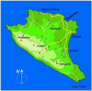 Gavdos map