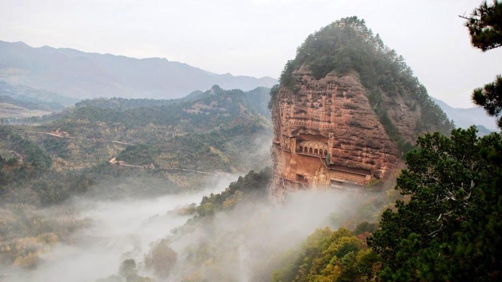 Maijishan Grottoes, Tianshui, Gansu, China