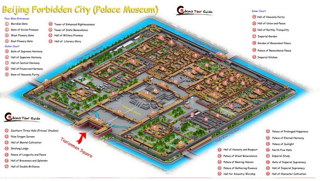 36. Gugong Beijing Forbidden City Map 1