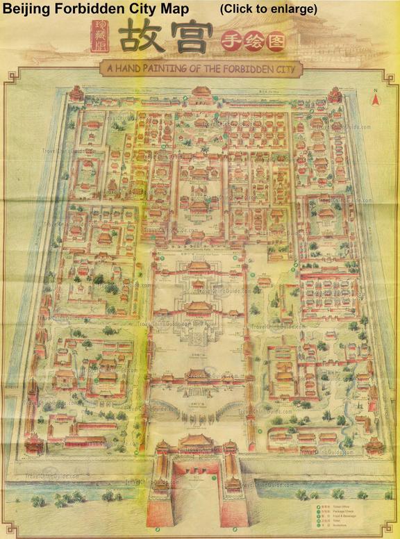 36. Gugong Beijing Forbidden City Map 2